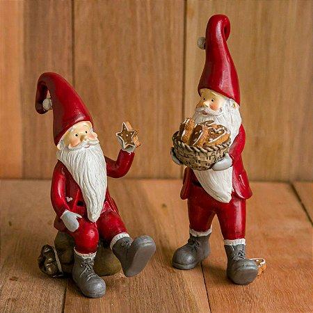 Dupla de Papai Noel com Biscoitos