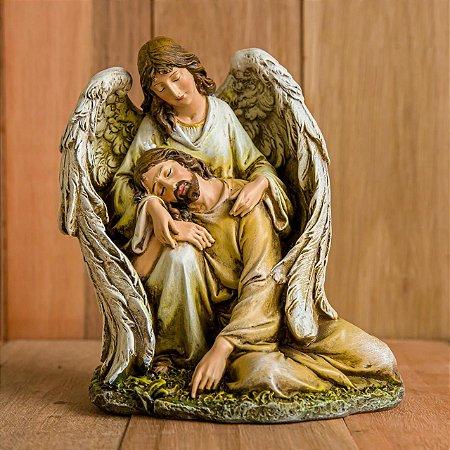 Imagem do Anjo Acolhendo Jesus
