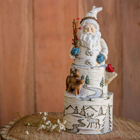 Enfeite Papai Noel Com Cervo e Rena
