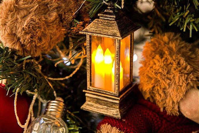 Lanterninhas com 3 velas para pendurar na árvore de Natal