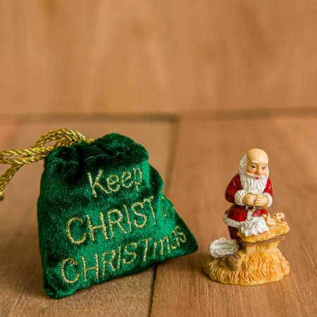 Pingente Papai Noel com Menino Jesus