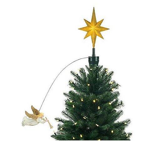 Ponteira de Árvore de Natal Anjo Voando