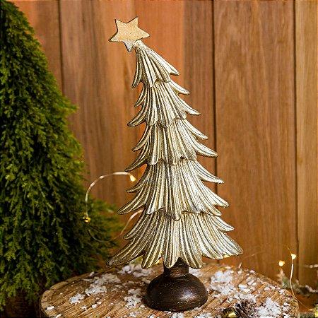 Mini Árvore Para Enfeite de Natal com Estrela Dourada