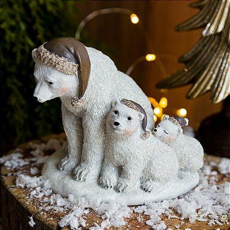 Família de Ursos Para Enfeite de Natal