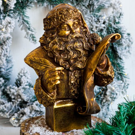 Busto Papai Noel Gold