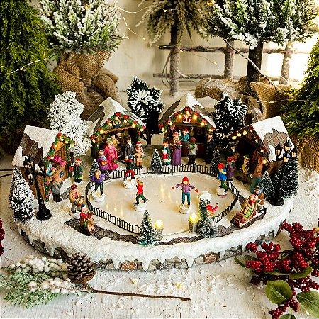 Vila de Natal com Pista de Patinação
