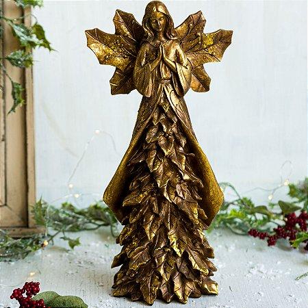 Anjo Manto de Folhas Gold (P)