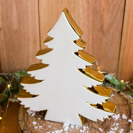 Árvore de Natal Decorativa em Cerâmica (P)