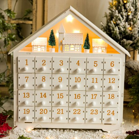 Calendário de Natal Casinha Nevada