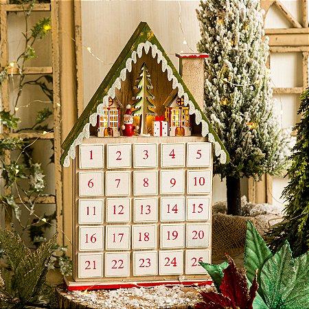 Calendário de Natal com Papai Noel