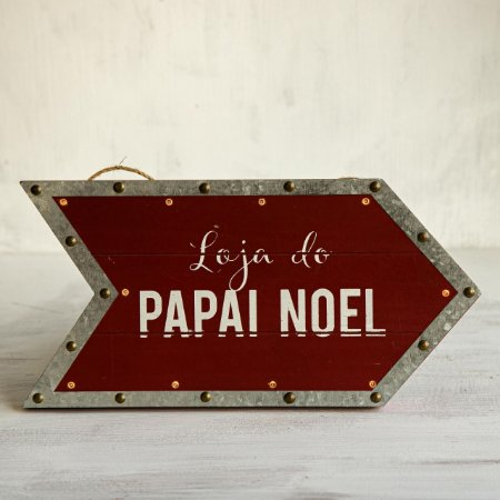 Placa da Lojinha do Papai Noel com LED