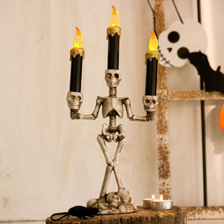 Candelabro Esqueleto 3 Velas