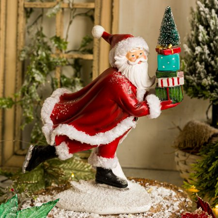 Papai Noel Esquiando com Presentes