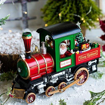 Locomotiva do Papai Noel com Luz e Música