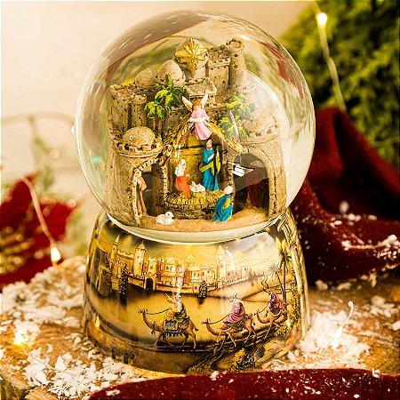 Globo de Vidro O Nascimento do Menino Jesus