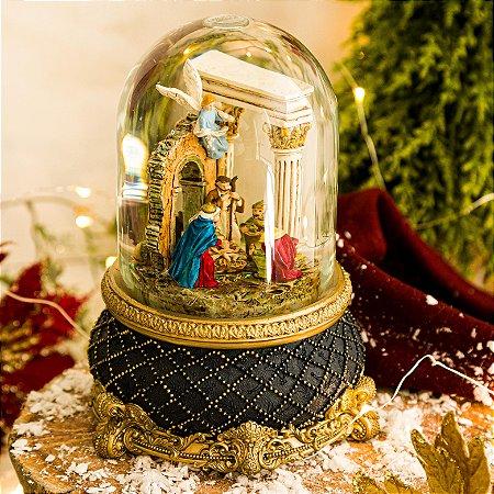 Globo de Vidro O Nascimento do Menino Jesus (Com Movimento)