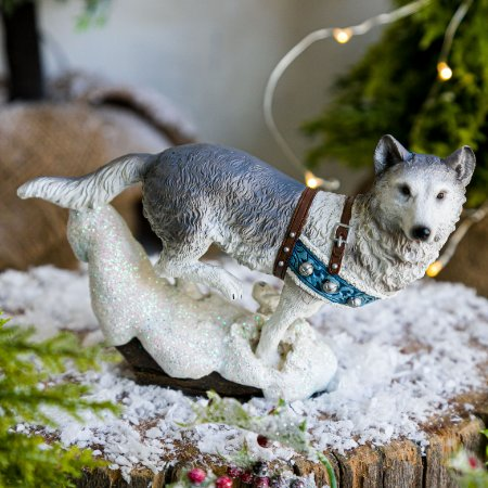 Lobo Branco Nevado com Base