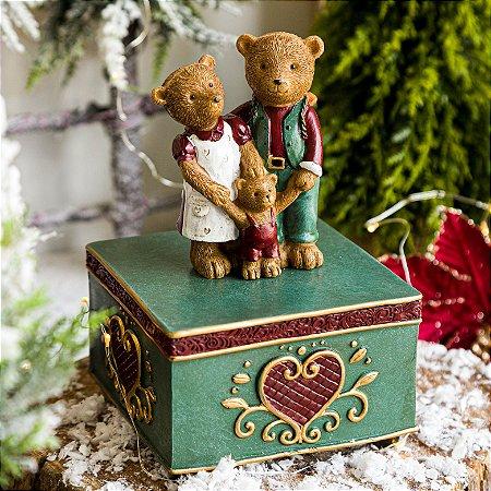Caixa Musical de Corda - Família de Ursinhos
