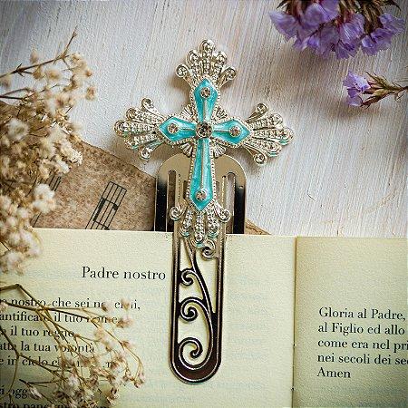 Marcador de Livro Crucifixo Céu Azul