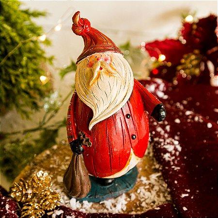 Papai Noel com Gorrinho Vermelho e Presentes