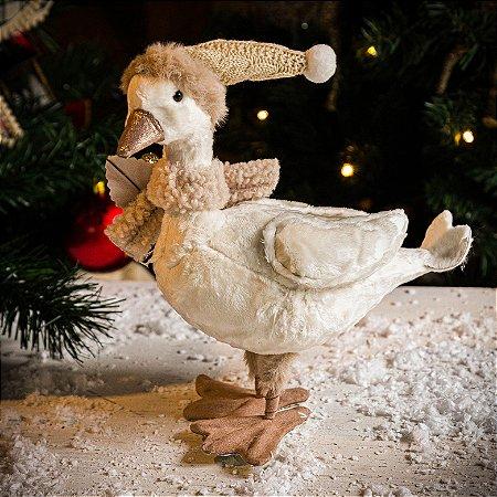 Patinho Decorativo com Gorro de Natal