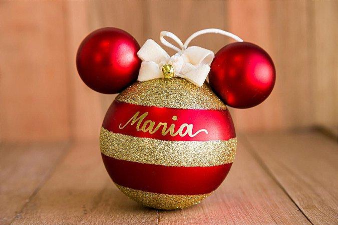Bola Disney com Listras Douradas (P)