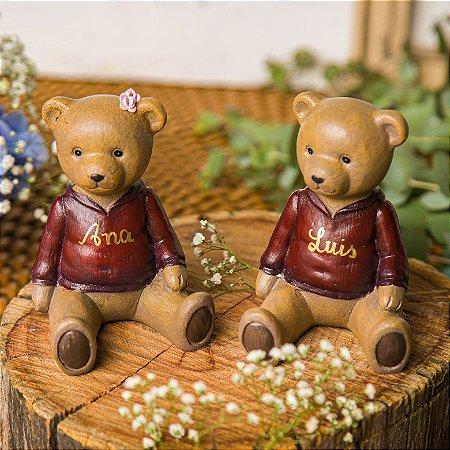 Urso Blusa Vermelha - Unidade (Personalizável)