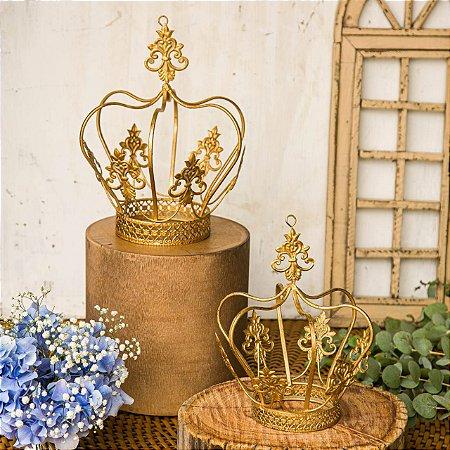 Dupla de Coroas Florença Gold Decorativas