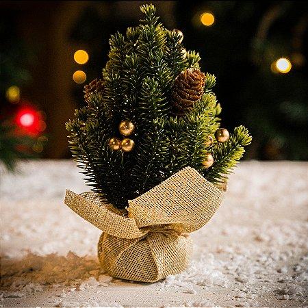 Mini Árvore com Pinhas Decorativas