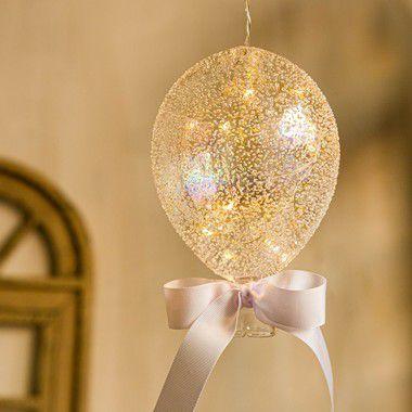 Luminária Balão Açucarado Transparente G