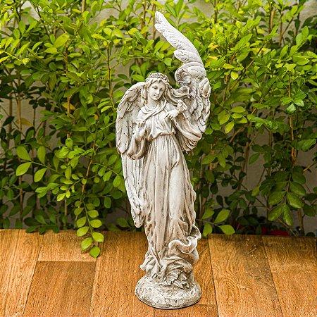 Anjo com Pássaro Garden