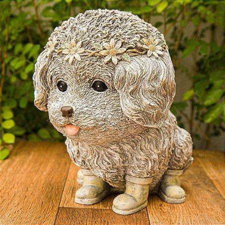 Cachorrinho com Coroa de Flores Garden - Jardim