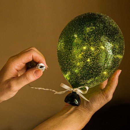 Luminaria Balão Açucarado Verde G