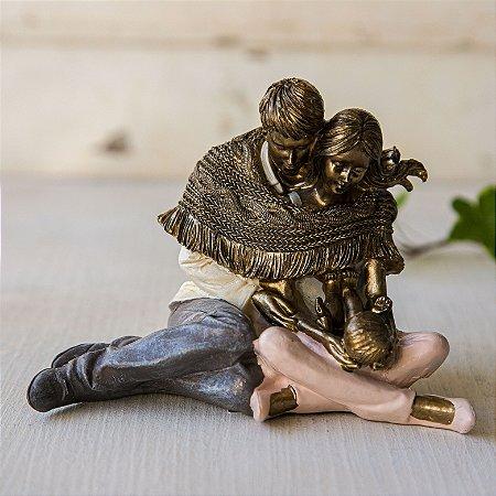 Casal com Mantinha e bebê - PERSONALIZÁVEL