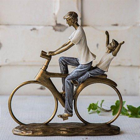Papai e filho na bicicleta - PERSONALIZÁVEL