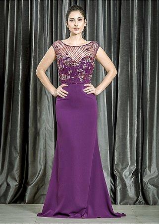 e3a0fe686 Vestido Longo Crepe Georgette Pronovias | lavita.com.br - La Vita ...