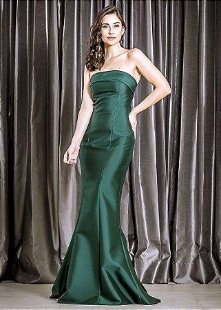 Vestido Longo Tomara que Caia Arte Sacra Coutture - Verde