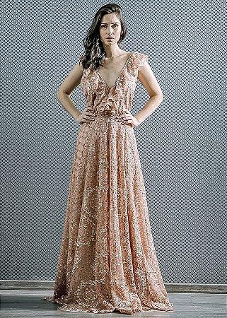 Vestido de Renda LN Brand - Salmão