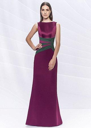Vestido Longo Arte Sacra Coutture - Marsala
