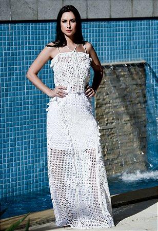 Vestido Longo de Lese UH Premium - Off White