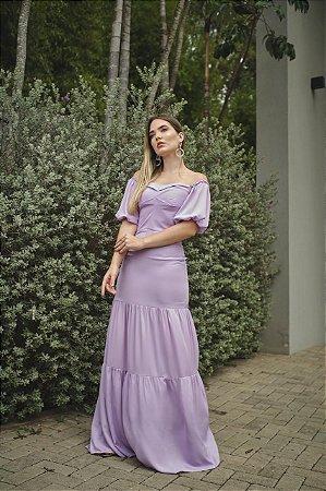 Vestido Longo Salerno - Liso
