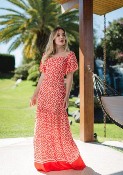 Vestido Longo Salerno - Estampado