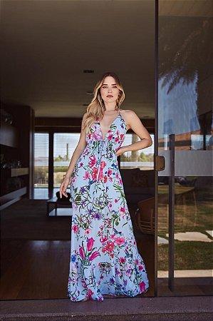 Vestido Longo Di Fiore- Estampado