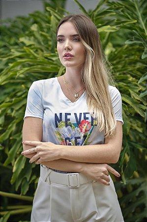 T-shirt Never Get Lost - Estampada