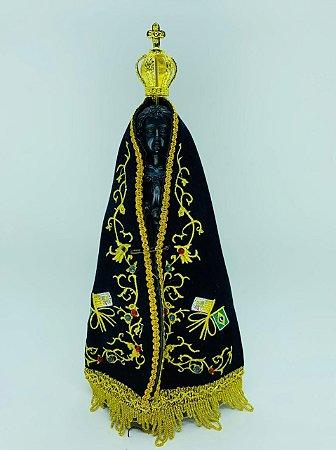 Nossa Senhora Aparecida com Manto de tecido 28,5cm (8298)