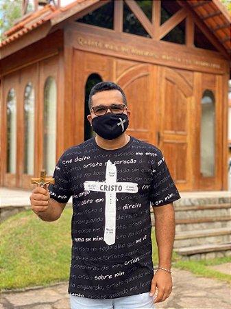Camiseta Couraça de São Patrício com mascara de proteção (8326)