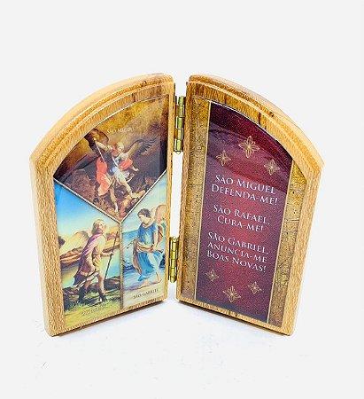 Capela de mesa 3 Arcanjos - Miguel / Rafael / Gabriel (3730)