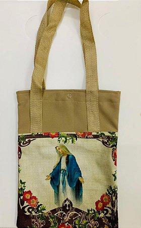 Bolsa com Alça em tecido 34 x 26 cm - Nossa Senhora das Graças