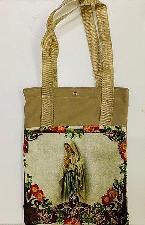 Bolsa com Alça em tecido 34 x 26 cm - Nossa Senhora de Lourdes