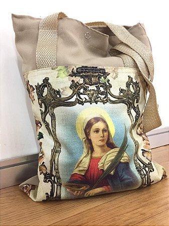 Bolsa com Alça em tecido 34 x 26 cm - Santa Luzia